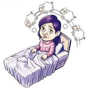 失眠卡通图片